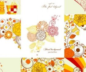 exquisite handpainted patterns 01 vectors graphics
