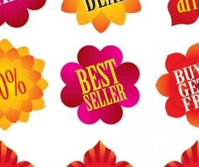 flower shape sales class vector material