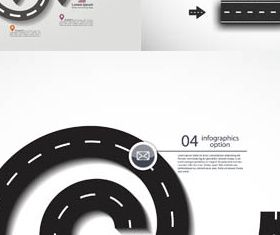 Road Infographic Backgrounds vectors graphics