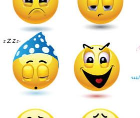 Funny Smiles 2 vector
