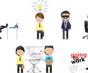 Cartoon Business People 6 vector