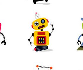 Cartoon Funny Robots vector graphics