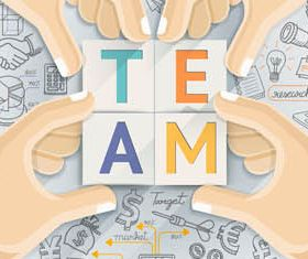 Teamwork Infographics Backgrounds 2 vector