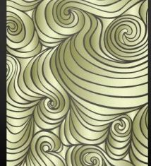 wave pattern label 2 creative vector