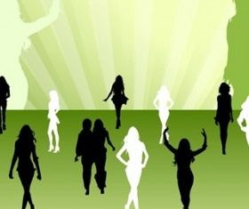 Fashion Silhouettes Female vector