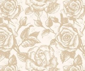 Retro Rose Pattern design vectors