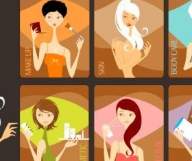 Beauty Girls free vectors