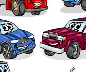 Cartoon Transport Set vector graphics