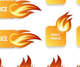 Flame Sale Elements design vector