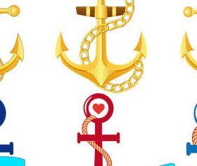 Anchors Set vector