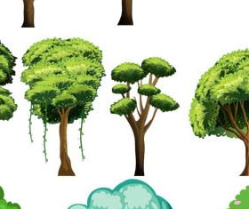 Trees graphic design vectors