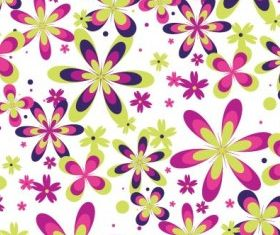 Seamless Flower Pattern vectors graphics