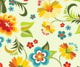 flowers background 4 vector