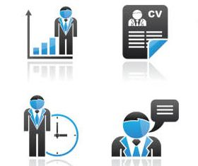 Blue Business People Icons vector