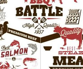 BBQ Labels Set vector