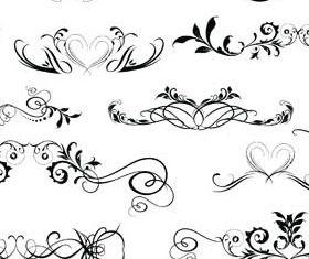 Ornamental Floral Dividers 2 vector