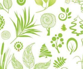 handpainted plant 01 vector