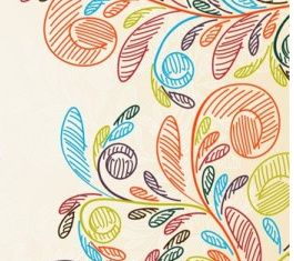 Hand-painted background pattern vector