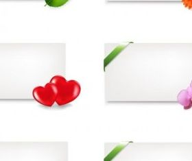 fine stationery and flowers creative vector