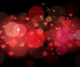 Abstract heart background design vectors