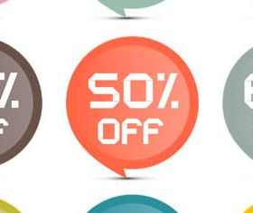 Discount Speech Bubbles set vector