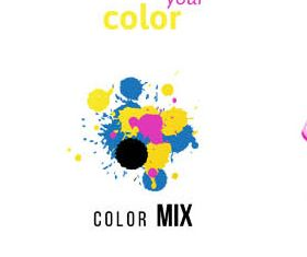 Creative CMYK Logo art vector