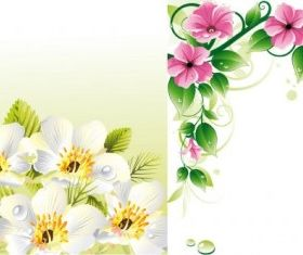 flower border background vector