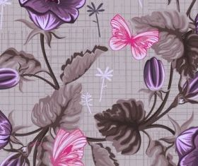 handpainted flowers background 1 vector
