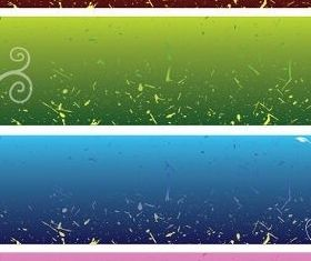 Floral Background Banners Free vector