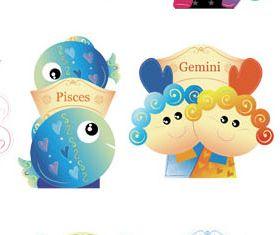 Zodiac Shiny Symbols vector