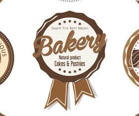 Bakery Vintage Labels Set vector design