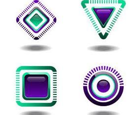 Abstract Logo free shiny vector