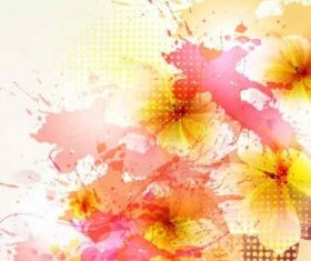 Flowers Backgrounds art vector