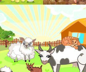 Animals on Farm 2 vector graphic