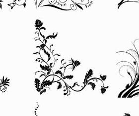 Floral Ornament Corners vector