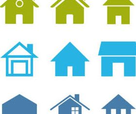 House Icons vectors