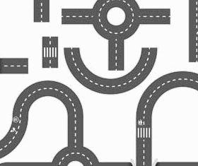 Roads graphic vector design