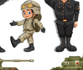 Soldiers free vector design
