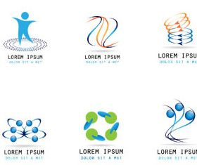 Abstract Business Logotypes 3 vector graphics