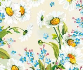Floral Flowers Blue background vector graphics