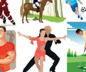 sports figures vector