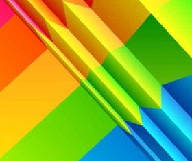 Colorful rainbow background design shiny vector