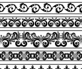 classic lace pattern 08 vector