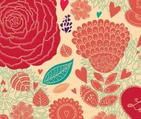 Flower Backgrounds graphic Illustration vector