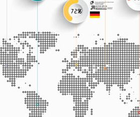 Infographics with World Map vectors