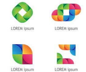 Abstract Shiny Logotypes 4 vector graphics