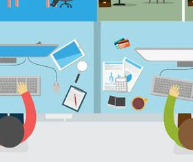 Backgrounds with Employees vector