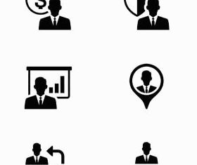 Black Business People Icons 2 vector