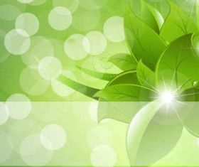 flowers green background vector graphics
