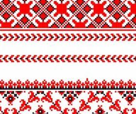 cross stitch patterns 05 vector